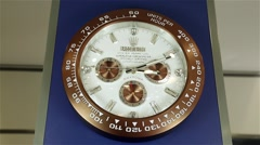 Wall Clock. The dial shows the time. Watch time lapse Stock Footage