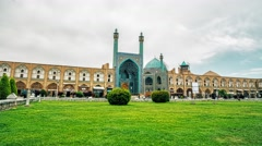 Isfahan Shah Mosque time passing Stock Footage