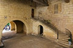 Old medieval French building Stock Photos