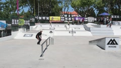 Sergio Adao during the DC Skate Challenge Stock Footage