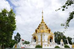 The design of buddhist pagoda architecture Stock Photos