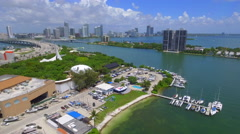 Aerial video of Jungle Island and Venetian Stock Footage