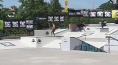 Claudio Costa during the DC Skate Challenge Stock Footage