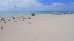 Aeria lvideo of resort cabanas on the beach Stock Footage