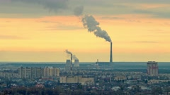 Thermal power station time lapse - stock footage