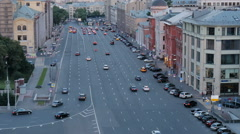 MOSCOW, RUSSIA - JUNE 23, 2016. Cars are moving down the street Stock Footage