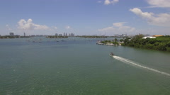 Aerial video Jungle Island sail boats Stock Footage