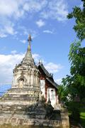 ancient historical buddhist pagoda monument and temple church - stock photo