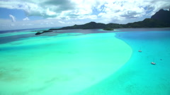 Aerial view of Bora Bora Island South Pacific Ocean French Polynesia Stock Footage