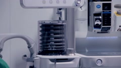 Movement pulmoflator during surgery Stock Footage