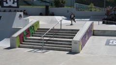 Gustavo Ribeiro during the DC Skate Challenge Stock Footage