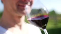 Wine tasting - smelling Stock Footage