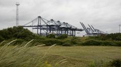 Port in Felixstowe Stock Footage