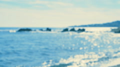 By the Sea - Defocused shot of a seascape - seamless loop - stock footage