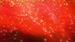 Wedding Motion Loopable Background 052, Red BG with stars Stock Footage