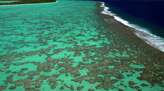 Aerial view of Tupai and Bora Bora Island South Pacific Ocean Stock Footage
