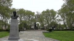 John F. Kennedy Monument at the Grand Army Plaza in Brooklyn, NYC. Stock Footage