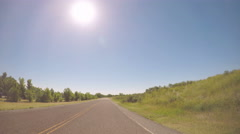 Car driving through Cherry Creek State Park-POV point of view. Stock Footage