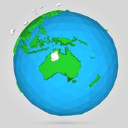 Vector poly earth globe illustration. - stock illustration