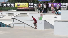 Thiago Borges during the DC Skate Challenge Stock Footage
