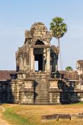 Building in Angkor Wat (largest religious temple monument in the world). Siem Stock Photos
