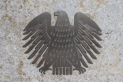 The german eagle (Bundesadler), the logo of the German Bundestag - stock photo