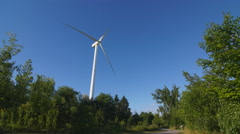 Wind turbine in Alex Robertson Park in Pickering, Ontario, Canada. Stock Footage