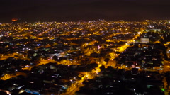 Aerial night Bangu (west zone) neighbourhood Rio de Janeiro Stock Footage