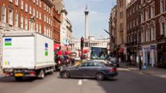 Time lapse of Whitehall looking towards Trafalgar Square Stock Footage