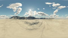 panoramic desert. made with one 360 degree lense camera without any seams - stock footage