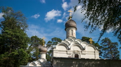 Moscow Archangelskoe Church of Michail Archangel Stock Footage