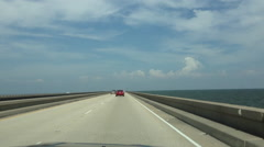 Road Trip, Lake Pontchartrain Causeway, New Orleans, Louisiana, USA Arkistovideo