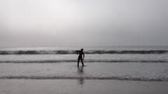 Dancer on the Beach, Venice Beach, Los Angeles, USA - stock footage