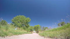 Unpaved trail at the RV campground. Stock Footage