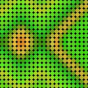 Pattern low poly circle style vector mosaic background - stock illustration
