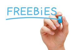 Freebies Blue Marker Stock Photos