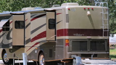 RV campground at Cherry Creek State Park. Stock Footage