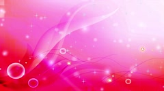 Wedding Motion Loopable Background 057, Megenta BG with Bubbles and stars - stock footage