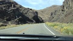Road Trip, Sierra Nevada Road, California, USA Stock Footage