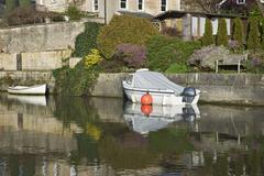 Bath, England - February 12, 2011: Kennet and Avon Canal - stock photo