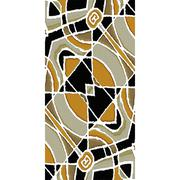 Stationery Background with Tribal Design Borders - stock illustration