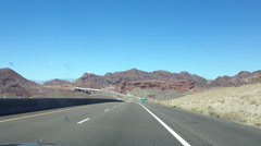 Road Trip, Highway to Hoover Dam, Arizona, USA Stock Footage
