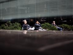 Manhattan street scene - stock photo