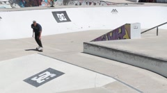 Miguel Pinto during the DC Skate Challenge Stock Footage