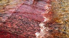 Granite Slab In Water Stock Footage