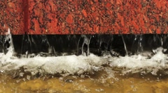 Water With Granite Stone Stock Footage