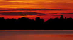 Colour Sunset Over The River - stock footage