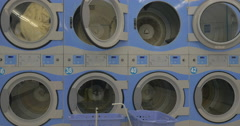 Linen washed in the laundry - stock footage