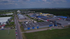 4821 Industrial area - production factories aerial Stock Footage
