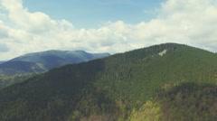 360 degree view Flight in Carpathian mountains. Turn Left. 4k, 30fps Stock Footage